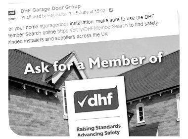 Garage Door Group Facebook page