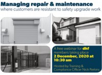 DHF member webinar: Managing repair & maintenance