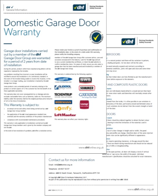 Dhf Dispute Resolution Garage Door Warranty